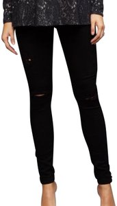AG Adriano Goldschmied Ag black distressed jeans size 25 R