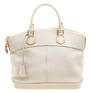 Louis Vuitton Lockit Leather Suhali Tote in White