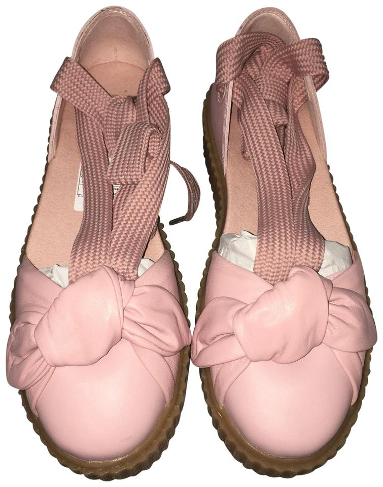 new styles f28cf fd3a7 FENTY PUMA by Rihanna Pink Bow Leather Creeper Flats Sandals Size US 9  Regular (M, B) 45% off retail