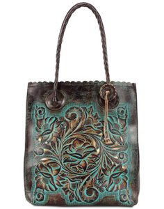 Patricia Nash Designs Tote in Brown/Turquoise