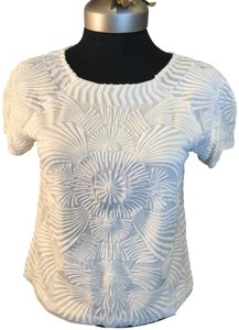 Antik Batik Beaded Top off white