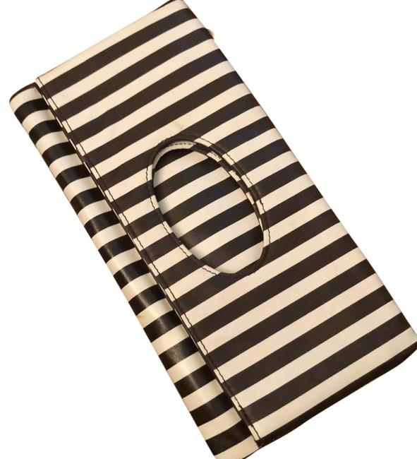 Item - Striped Brown and White Pinstripe Clutch