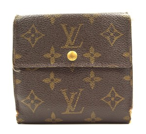Louis Vuitton Monogram wallet large double sided trifold wallet card bill holder