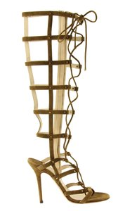 Jimmy Choo Cage Gladiator Stud Studded Green Boots