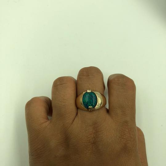 Stamped & Tested 10KT Yellow Gold Opal Ring Size 10 Image 5