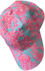 Lilly Pulitzer SEASALT BLUE SHELL WE DANCE BASEBALL CAP STYLE # 27476