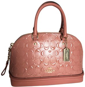 Coach Satchel in MELON/light gold