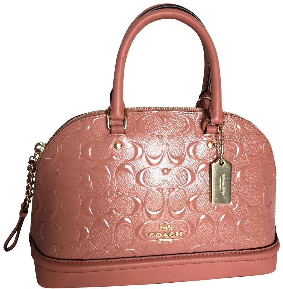 e729fbdf016 Coach Sierra Mini In Signature Debossed Melon/Light Gold Patent ...