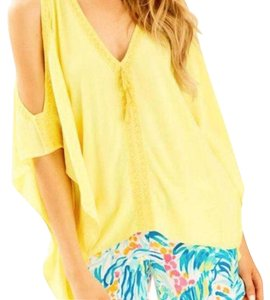 Lilly Pulitzer Top Yellow Sweet Tarty