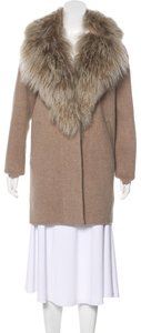Pologeorgis Peacoat Shearling Wool Fur Coat