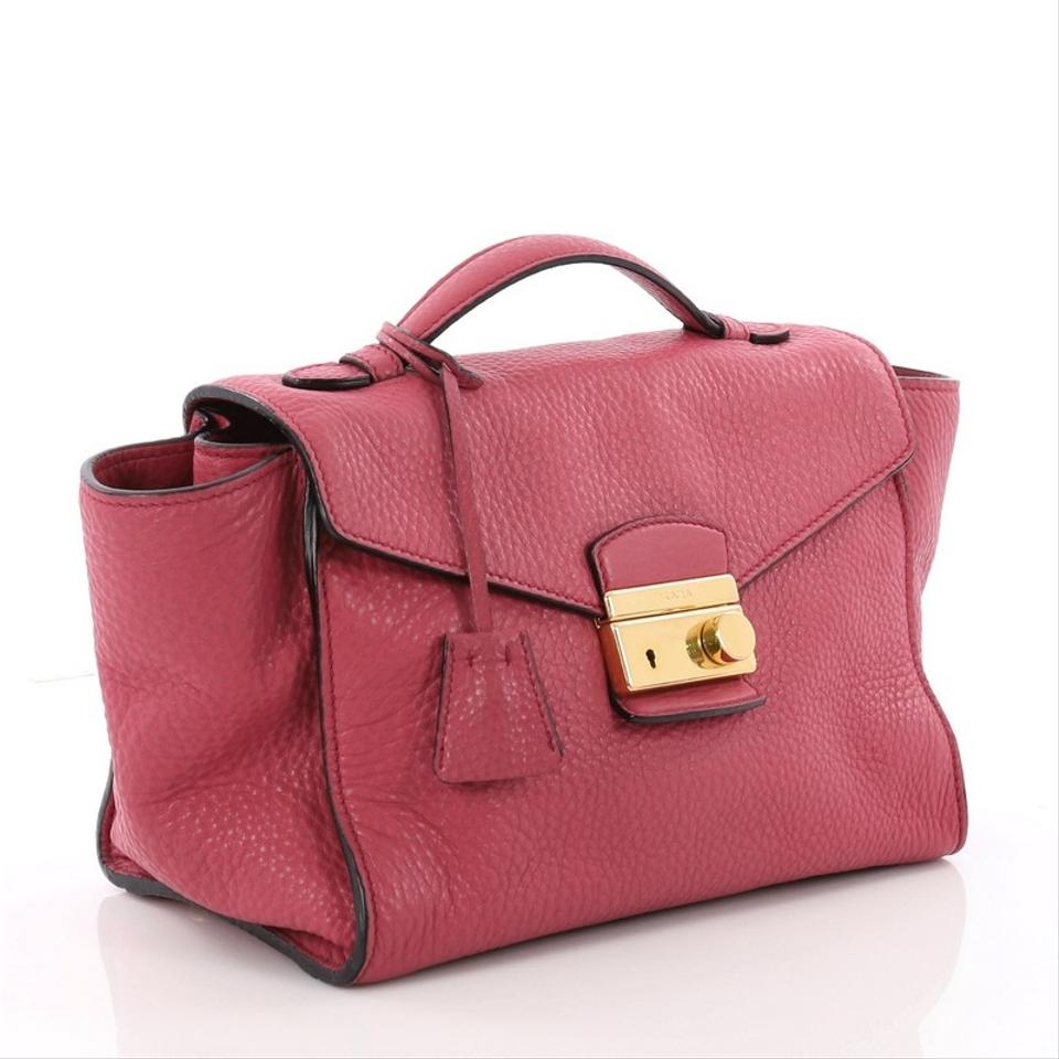 93485c3c4598 Prada Pattina Convertible Vitello Daino Medium Pink Leather Shoulder Bag -  Tradesy