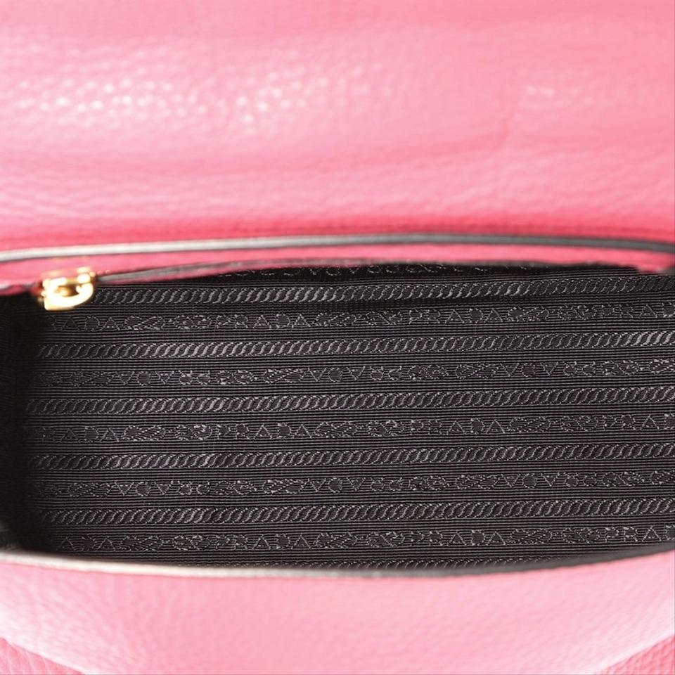 e58e620e245b Prada Pattina Convertible Vitello Daino Medium Pink Leather Shoulder ...