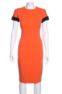 Victoria Beckham short dress Orange on Tradesy