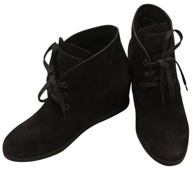 Item - Black Calzature Donna Suede Wedge Boots/Booties Size EU 36.5 (Approx. US 6.5) Regular (M, B)
