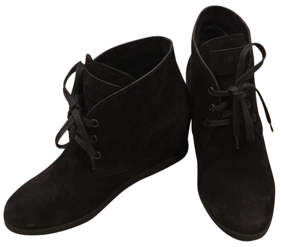 9c05f676a31 Prada Black Calzature Donna Suede Wedge Boots Booties. Size  EU 36.5  (Approx. US 6.5) Regular (M ...