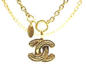 Chanel Rare CC Medium Quilted Long Chain Necklace