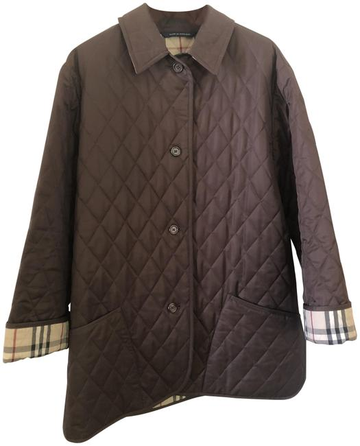 Item - Brown Diamond Quilted Lancing Jacket Size 4 (S)
