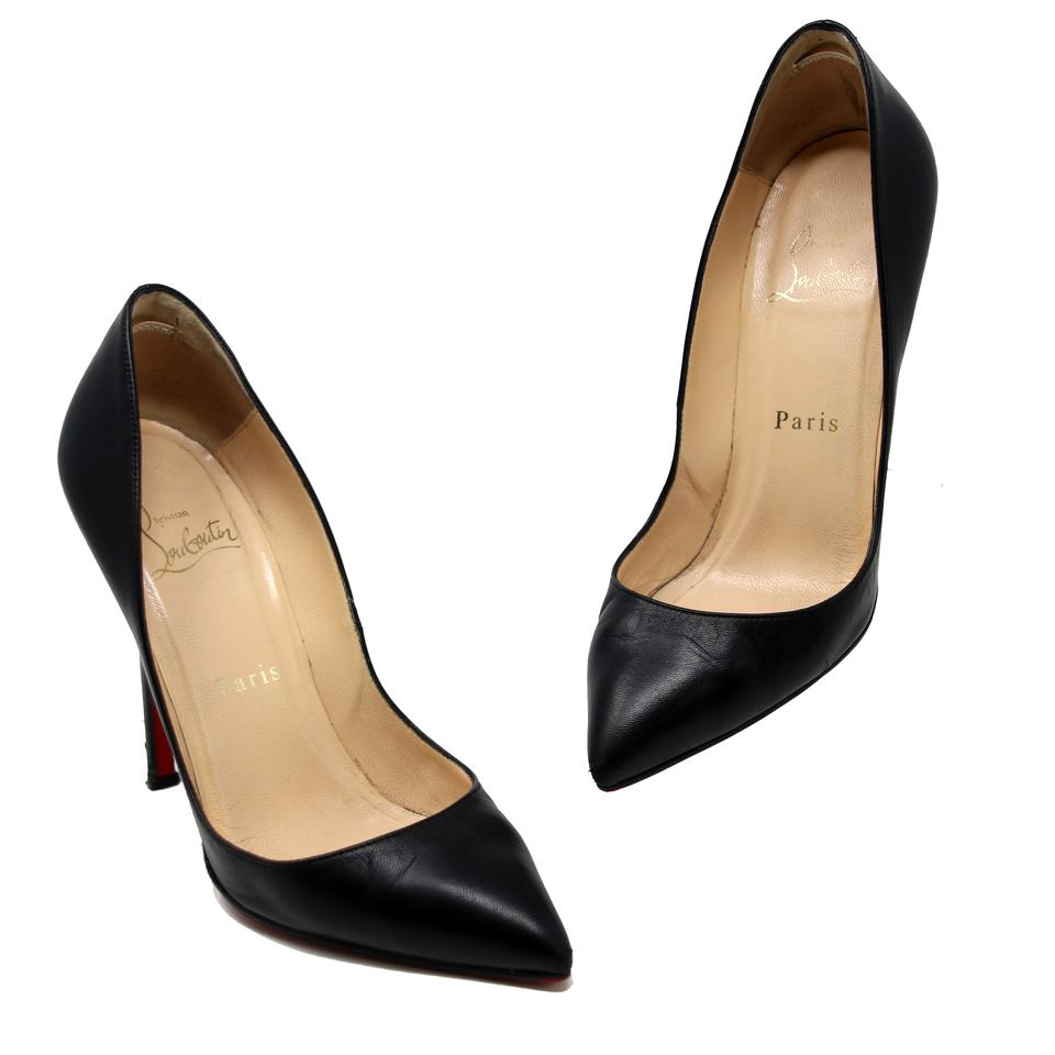 cb62f61dac1 Christian Louboutin Black Nero Classic Kid Leather Pigalle 120 Red Bottom  Pumps