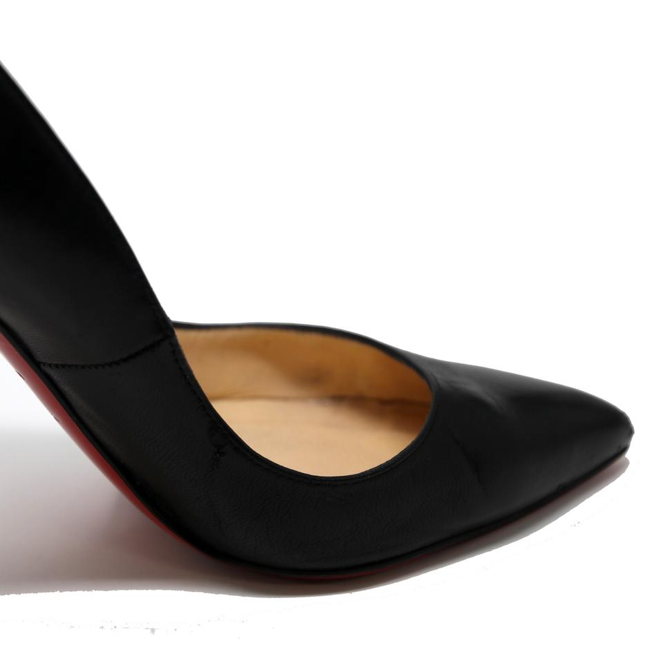 e8077a88dcd3 Christian Louboutin Black Nero Classic Kid Leather Pigalle 120 Red Bottom  Pumps Size US 5 Regular (M