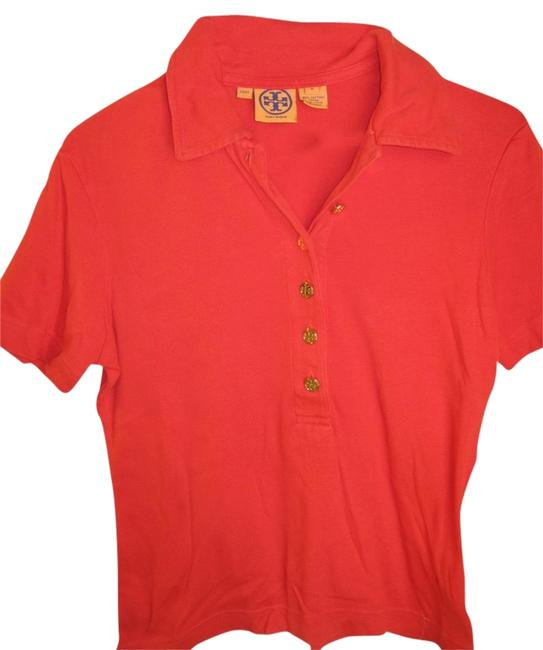 Item - Red Polo Medium Button-down Top Size 8 (M)