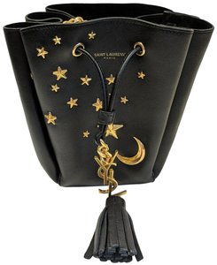 Saint Laurent Emmanuelle Star Moon Bucket Cross Body Bag 489982ca135b2