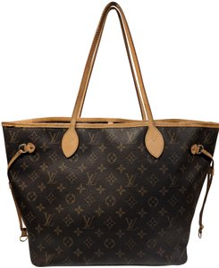 Louis Vuitton Neverfull Mm Monogram Lv Tote in Brown