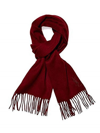 Preload https://img-static.tradesy.com/item/24165415/saint-laurent-wine-ysl-yves-red-color-wool-women-s-winter-scarfwrap-0-0-540-540.jpg
