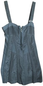Marc by Marc Jacobs short dress Gray Corset Sexy Open Back Silk Removable Straps on Tradesy