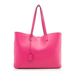 Saint Laurent Leather Ysl Tote in Pink