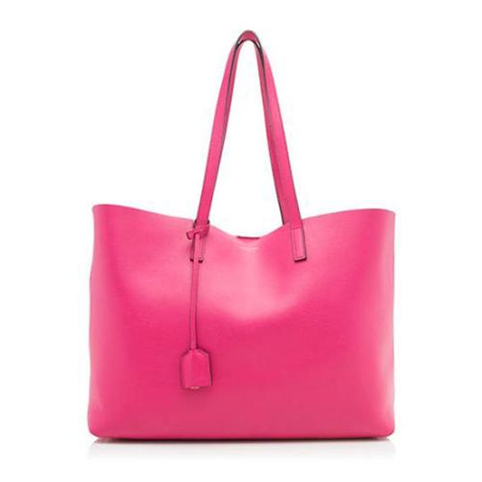 Preload https://img-static.tradesy.com/item/24165472/saint-laurent-shopper-large-pink-leather-tote-0-0-540-540.jpg