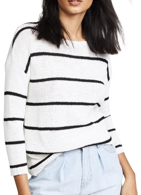 Preload https://img-static.tradesy.com/item/24165486/bb-dakota-striped-cotton-white-sweater-0-4-650-650.jpg
