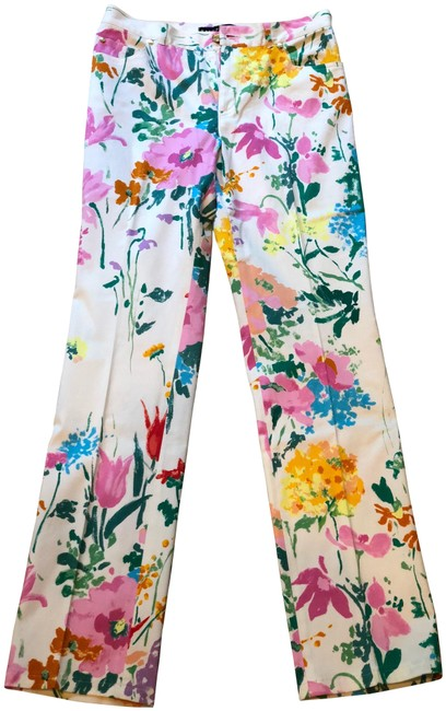 Preload https://img-static.tradesy.com/item/24165500/ralph-lauren-multicolor-white-and-floral-pants-size-8-m-29-30-0-1-650-650.jpg
