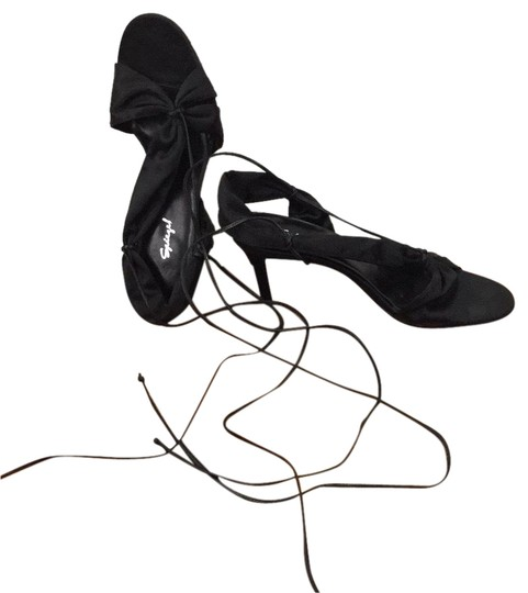 Preload https://img-static.tradesy.com/item/24165591/spiegel-black-satin-ankle-ties-sandals-size-us-7-regular-m-b-0-3-540-540.jpg