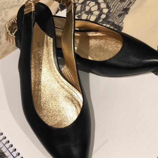 Paul Andrew black and rose gold Flats