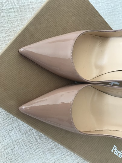 Christian Louboutin So Kate Patent Leather Stiletto Nude Pumps