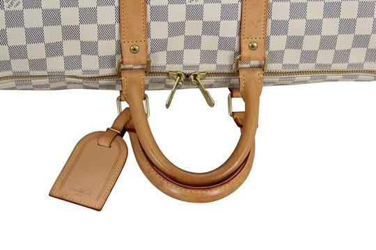 Louis Vuitton Bandouliere Lv Mono Duffle Boston white Travel Bag