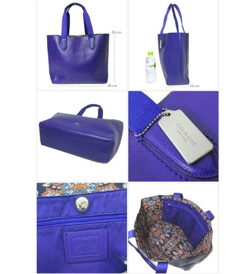 Coach Suede Inside Not Lined Silver Hardware Tote in PURPLE