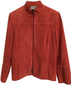 Carlisle Suede Leather Burnt Orange Blazer
