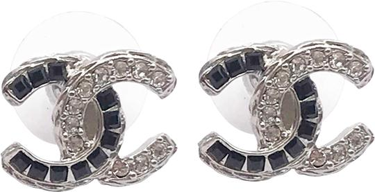 Preload https://img-static.tradesy.com/item/24165660/chanel-silver-crystal-cc-with-black-and-white-rinestone-earrings-0-1-540-540.jpg