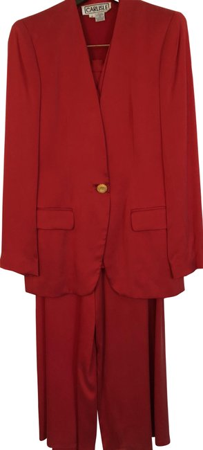 Preload https://img-static.tradesy.com/item/24165685/carlisle-red-pant-suit-size-10-m-0-1-650-650.jpg