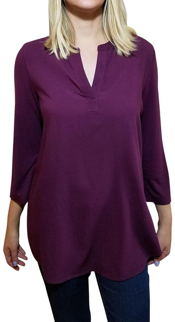 Preload https://img-static.tradesy.com/item/24165690/pleione-purple-women-s-rayon-34-sleeve-tunic-size-8-m-0-1-650-650.jpg