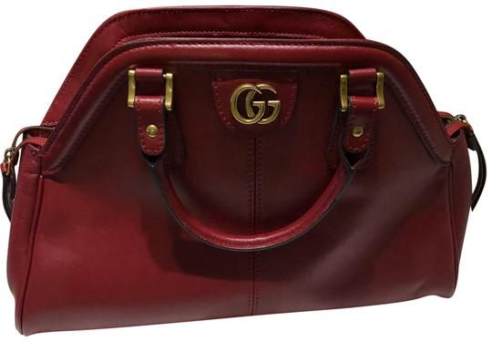 Preload https://img-static.tradesy.com/item/24165693/gucci-red-soft-leather-antique-gold-toned-hardware-double-g-metal-feline-head-two-interior-zipper-po-0-1-540-540.jpg