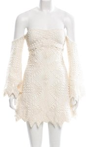 Jonathan Simkhai short dress white/Cream on Tradesy