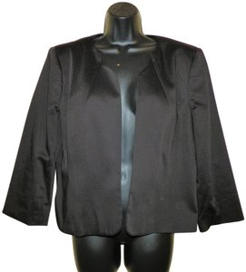 Tahari Dressy Cotton Dryclean Only Black Blazer