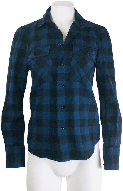 Preload https://img-static.tradesy.com/item/24165715/rugby-ralph-lauren-blue-checked-button-down-top-size-6-s-0-1-650-650.jpg