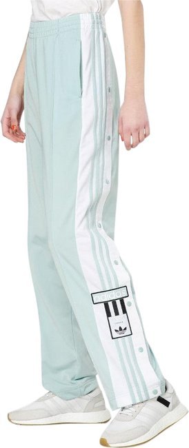 adidas Polyester Wide Leg Pants mint green