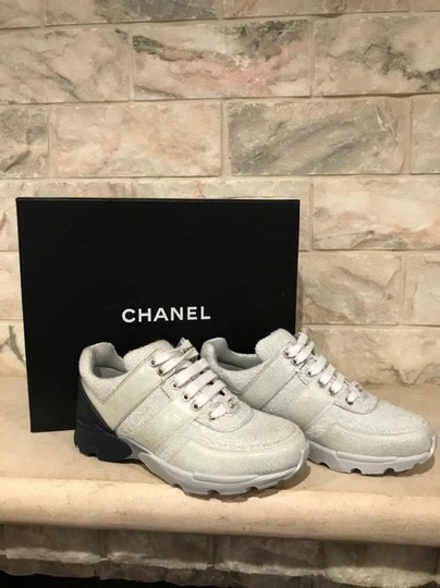 Chanel Trainer Sneaker Runner Flat Classic silver Athletic