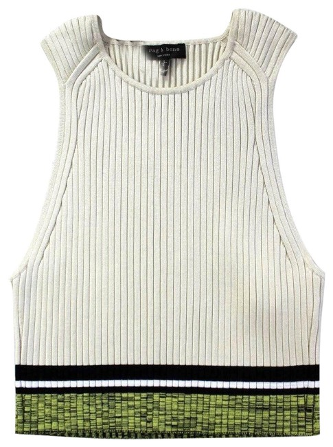 Preload https://img-static.tradesy.com/item/24165771/rag-and-bone-cream-sheridan-ribbed-knit-sleeveless-stretch-tight-cropped-silver-birch-tank-topcami-s-0-1-650-650.jpg