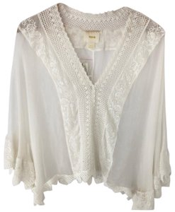 Anthropologie Top off white