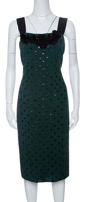 Preload https://img-static.tradesy.com/item/24165817/marc-jacobs-green-and-black-polka-dotted-sleeveless-night-out-dress-size-2-xs-0-1-650-650.jpg
